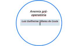 Anemia pré-operatória