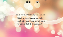 Session 11: Writing to Learn