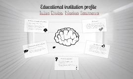 Educational institution profile