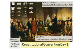 Constitutional Convention Day 1