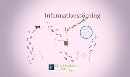 Informationssökning for dummies