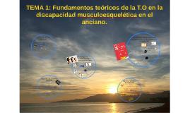TEMA 1: Fundamentos teóricos de la T.O en la discapacidad mu