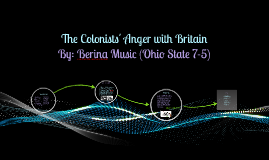 The Colonists' Anger with Britain