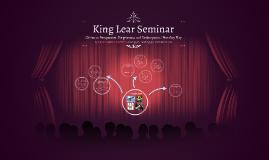 King Lear Seminar
