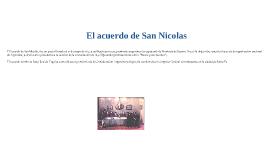 El acuerdo San Nicolas