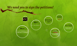 We need you to sign the petitions!