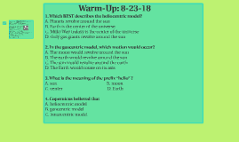 Earth Science Warm-Up 18-19