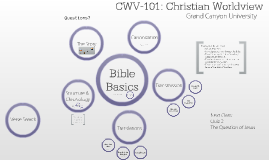 CWV-101: Week 2b - Bible Literacy