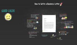 Copy of How to Write a Business Letter