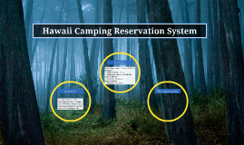 Hawaii Camping Reservation System