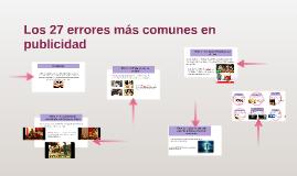 Los 27 errores más comunes en publicidad