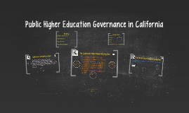 Copy of Higher Education Governance in California