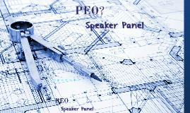 PEO Speaker Panel 2017