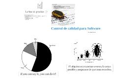 Control de Calidad para el Software