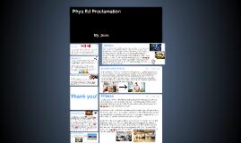Phys Ed Proclamation