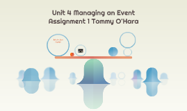 Unit 4 managing an event assignment one