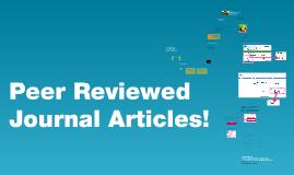 Peer-Reviewed Journal Articles!