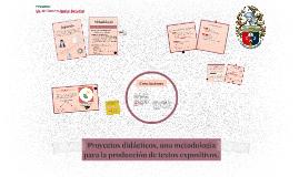 Proyectos didácticos para la producción de textos expositivos