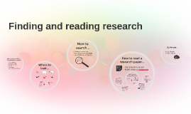 Finding and reading research