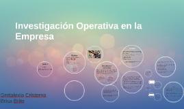 Investigación Operativa de