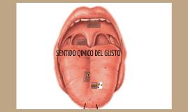 SENTIDO QUIMICO DEL GUSTO