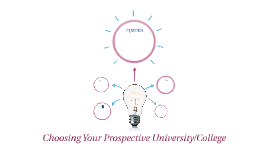 Choosing Your Prospective University/College
