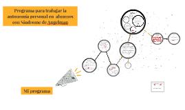 Copy of Programa para trabajar la autonomía personal en  alumnos con