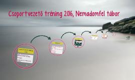 Csapatvezető tréning 2016