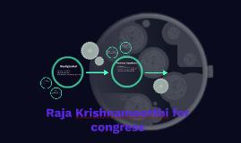 Raja Krishnamoorthi for congress