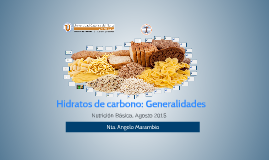 Hidratos de Carbono: Generalidades