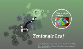 Zentangle Leaf