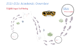 2015 - 2016 Academic Overview for TCS@ODU