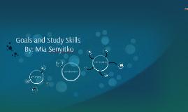 Goals and Study Skills