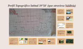 Perfil Topográfico: latitud 39°50' (que atraviesa Valdivia)