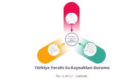 Türkiye Yer Altı Su Kaynakları