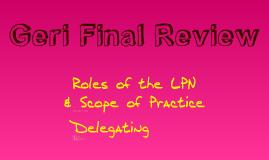 Geri Final Review