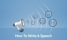 How to write a speech by Philemon Duhm
