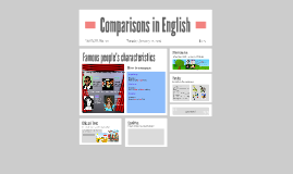 Comparisons in English