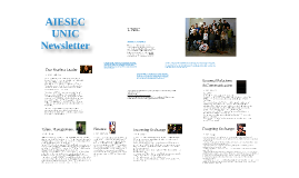 Copy of AIESEC UNIC newsletter