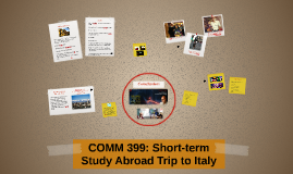 COMM 399: Short-term Study Abroad Trip to Italy