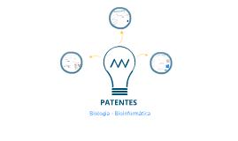 BioInformatica - Trabalho de Grupo PATENTES