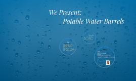 Potable Water Barrels