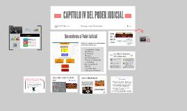 CAPITULO IV DEL PODER JUDICIAL