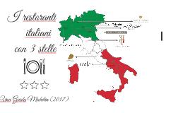 I restoranti italiani con tre stars michelin