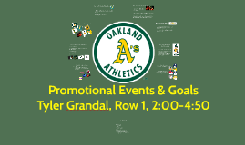 Promotional Events and Goals