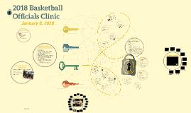 2018 Basketball Officials Clinic