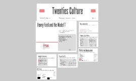 Twenties Culture