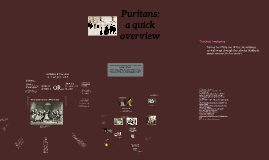 Puritans & witchcraft: a quick overview