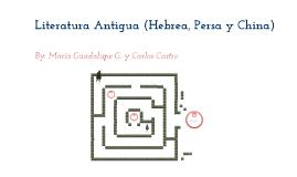 Tarea de Literatura Antigua.