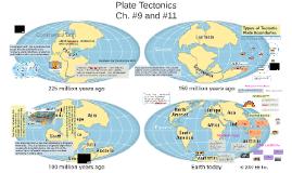 Ch. #9 & 11 - Plate Tectonics